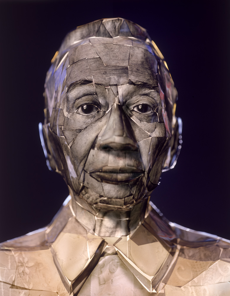"Matt Gatton, ""Putol One,"" 2001. Photo-sculpture, kodaliths on cast plastic bust. Private collection."